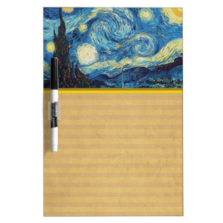 Van Gogh Starry Night Impressionist Painting Dry Erase Board