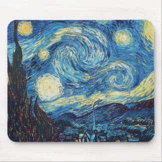 Van Gogh Starry Night Impressionist Painting Mouse Pad