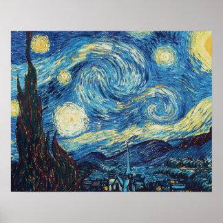Van Gogh Starry Night Impressionist Painting Print
