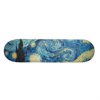 Van Gogh Starry Night Impressionist Painting Skateboard Deck