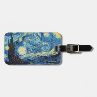 Van Gogh Starry Night Impressionist Painting Tag For Luggage
