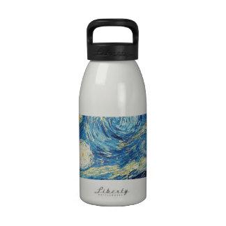 Van Gogh Starry Night Impressionist Painting Drinking Bottles