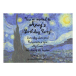Van gogh starry night invitation