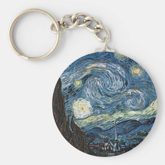 Van Gogh Starry Night Keychain