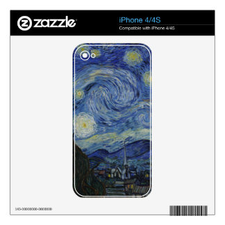 Van Gogh Starry Night,Multi products selected iPhone 4S Decals