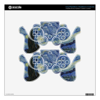 Van Gogh Starry Night,Multi products selected PS3 Controller Skins