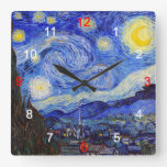 "Van Gogh , ""Starry Night"" , No.04 クロック"