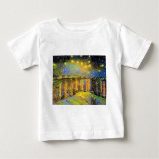 Van Gogh - Starry Night On The Rhone Baby T-Shirt