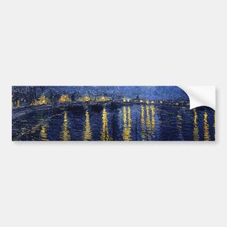 Van Gogh Starry Night Over Rhone Bumper Sticker