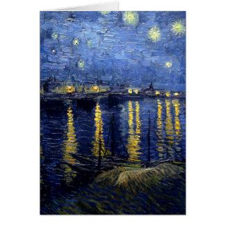 Van Gogh Starry Night Over Rhone Card