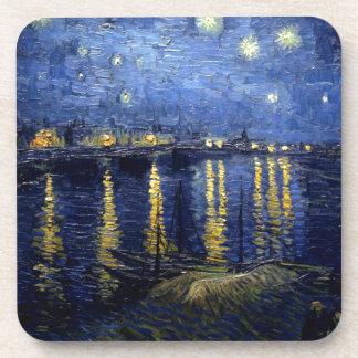 Van Gogh Starry Night Over Rhone Drink Coasters