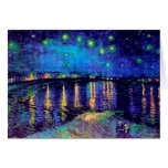 Van Gogh Starry Night Over Rhone (F474) Fine Art Cards