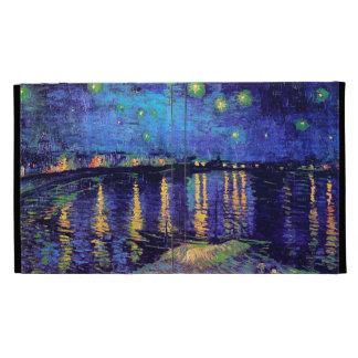 Van Gogh Starry Night Over Rhone  (F474) Fine Art iPad Folio Covers