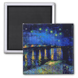 Van Gogh Starry Night Over Rhone (F474) Fine Art Refrigerator Magnet