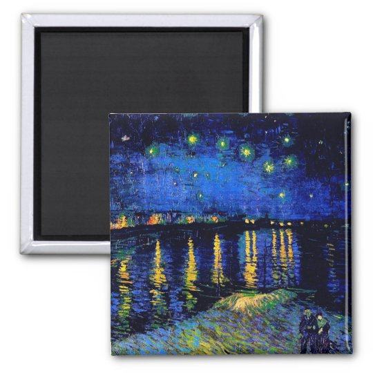 Van Gogh Starry Night Over Rhone  (F474) Fine Art Magnet