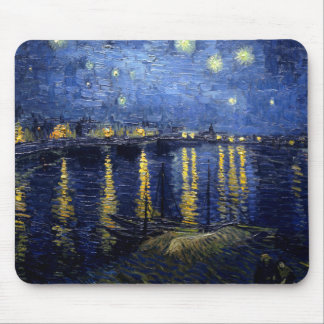Van Gogh Starry Night Over Rhone Mouse Pad