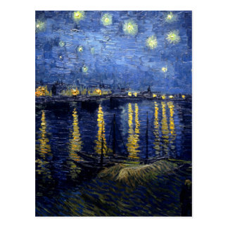 Van Gogh Starry Night Over Rhone Postcard