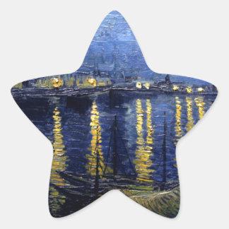Van Gogh Starry Night Over Rhone Star Sticker
