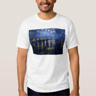 Van Gogh Starry Night Over Rhone Tee Shirt