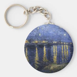 Van Gogh | Starry Night Over The Rhone | 1888 Keychain