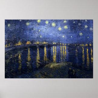 van Gogh - Starry Night Over the Rhone (1888) Poster