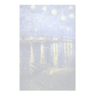 Van Gogh   Starry Night Over The Rhone   1888 Stationery
