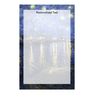 Van Gogh | Starry Night Over The Rhone | 1888 Stationery