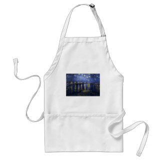 Van Gogh Starry Night Over The Rhone Adult Apron
