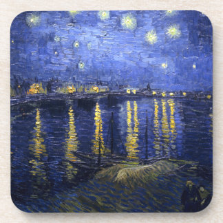 Van Gogh: Starry Night Over the Rhone Beverage Coaster