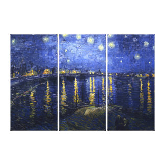 Van Gogh: Starry Night Over the Rhone Gallery Wrapped Canvas