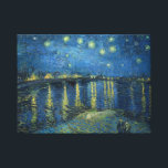 """Van Gogh: Starry Night Over the Rhone Canvas Print<br><div class=""""desc"""">Van Gogh: Starry Night Over the Rhone.  Fantastic classic landscape painted by the Dutch painter Vincent Willem van Gogh.  vintage, vincent van gogh, post impressionism, impressionist, post impressionist, gift, landscape, starry night over the rhone</div>"""