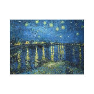 Van Gogh: Starry Night Over the Rhone Canvas Print