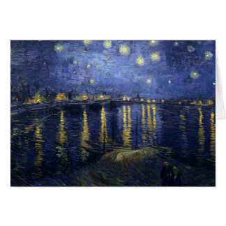 Van Gogh Starry Night Over The Rhone Card