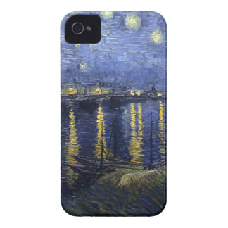 Van Gogh Starry Night Over The Rhone iPhone 4 Cases