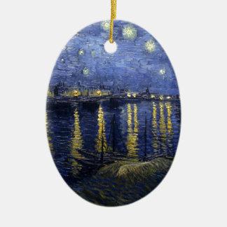Van Gogh Starry Night Over The Rhone Ceramic Ornament