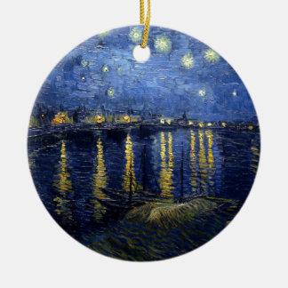 Van Gogh: Starry Night Over the Rhone Ceramic Ornament