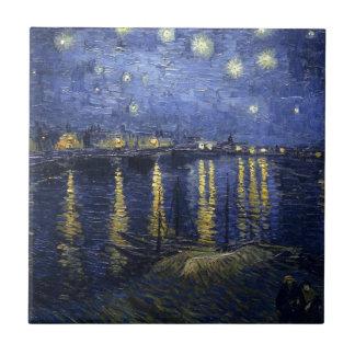Van Gogh Starry Night Over The Rhone Ceramic Tile