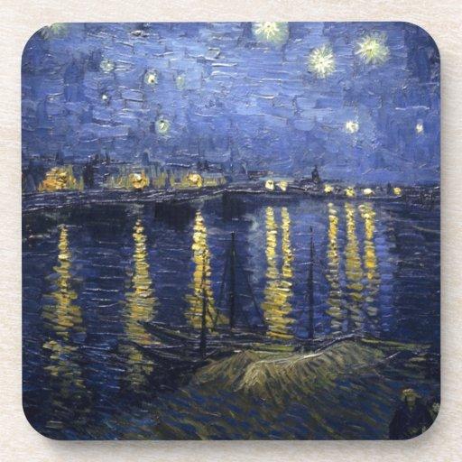 Van Gogh Starry Night Over The Rhone Coasters