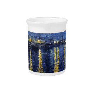 Van Gogh: Starry Night Over the Rhone Drink Pitcher