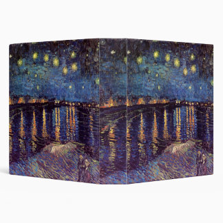 Van Gogh Starry Night Over the Rhone, Fine Art Binder