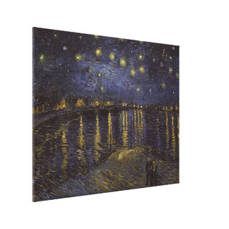 Van Gogh Starry Night Over The Rhone Fine Art Canvas Prints