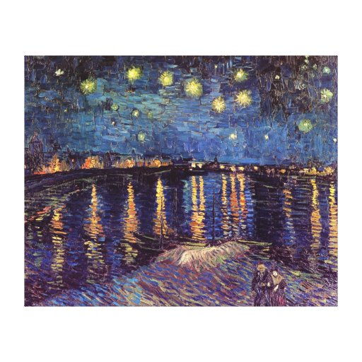 Van Gogh Starry Night Over the Rhone, Fine Art Canvas Print