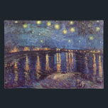 """Van Gogh Starry Night Over the Rhone, Fine Art Cloth Placemat<br><div class=""""desc"""">Starry Night Over The Rhone by Vincent van Gogh is a vintage fine art post impressionism nautical seascape painting. A maritime view over the water of the Rhone river at night with stars in the sky shimmering in the reflection. About the artist: Vincent Willem van Gogh (1853 -1890) was one...</div>"""