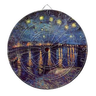 Van Gogh Starry Night Over the Rhone, Fine Art Dart Boards