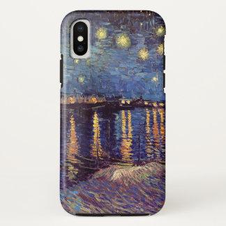 Van Gogh Starry Night Over the Rhone, Fine Art iPhone X Case
