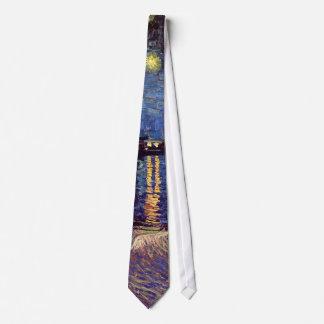 Van Gogh Starry Night Over the Rhone, Fine Art Neck Tie