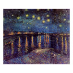 Van Gogh Starry Night Over the Rhone, Fine Art Poster