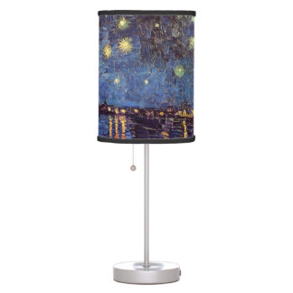 Van Gogh Starry Night Over the Rhone, Fine Art Table Lamp
