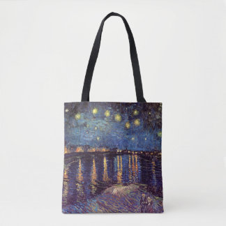 Van Gogh Starry Night Over the Rhone, Fine Art Tote Bag