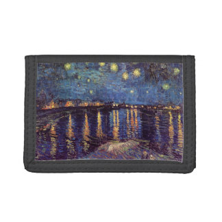 Van Gogh Starry Night Over the Rhone, Fine Art Tri-fold Wallet